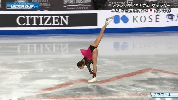 フィギュアスケートGPで16歳対決になった紀平梨花・ザギトワの美尻食い込みが凄い